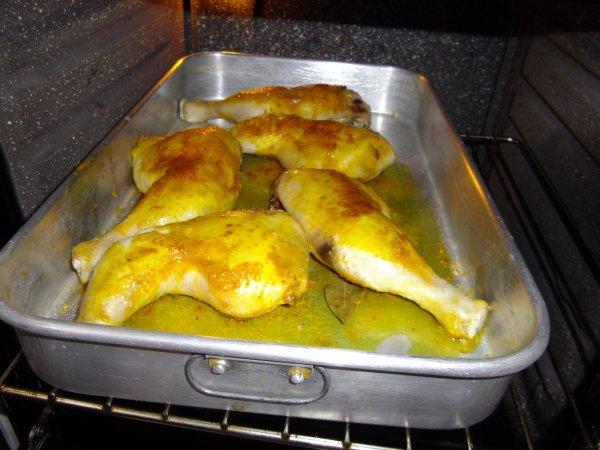 cuisses de poulet au four sauce curry moutarde a l 39 ancienne blog de monde de la peche. Black Bedroom Furniture Sets. Home Design Ideas