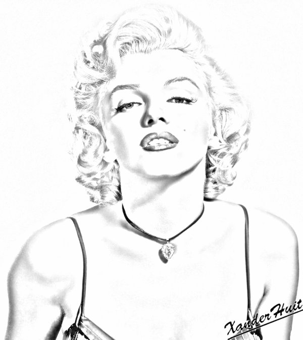printable marilyn monroe coloring pages - photo#11